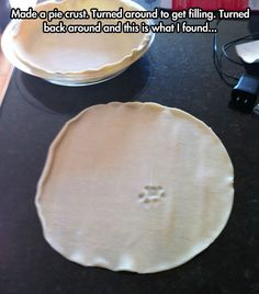 Don't freak out! That means this pie crust is a clue! A Blue's clue! :D (Seriously though, I wouldn't eat that if I were you.)