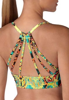 9709738f59 multicolor patterned lattice back sport bra from Maurices