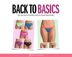 Value panty packs for the all lingerie hoarders out there!