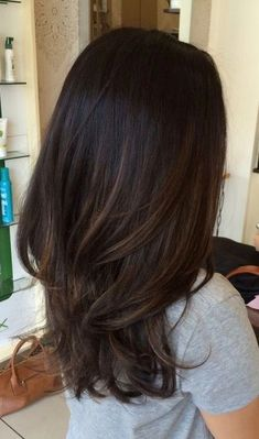 p/dark-brunette-with-subtle-light-brunette-ombre-bayalage - The world's most private search engine Hair Color Ideas For Brunettes Balayage, Hair Color Balayage, Partial Balayage Brunettes, Balayage On Black Hair, Haircolor, Dark Ombre Hair, Balayage Straight, Grey Ombre, Hair Color 2018