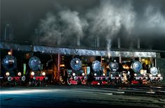 "Steam Locomotives taken by Krzysztof Maksymowicz. ""A station in Wolsztyn."""