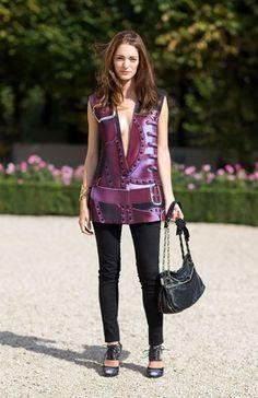 Street Style Paris Fashion Week Spring 2014 Sofia Sanchez Barrenechea