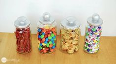 Repurposed glass jars-Tutorial-could also be used for sewing room items
