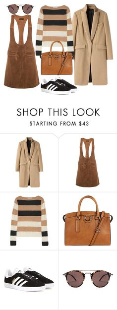 """""""."""" by my-kitsch-world ❤ liked on Polyvore featuring rag & bone, MaxMara, adidas Originals and Oliver Peoples"""