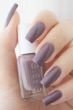 nageldesing Most wanted Essie nail polish patterns - Wedding Gifts: Unique And Creative Purple Nail Polish, Purple Nails, Essie Nail Polish Colors, Gray Nails, Nail Polishes, Classy Nails, Stylish Nails, Nail Paint Shades, Nagel Hacks