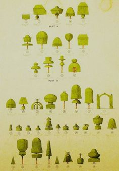 Levens Hall topiary design forms