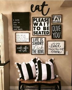Best Dining Room Wall Decor Ideas 2018 (Modern & Contemporary Pictures) - All About Decoration Kitchen Gallery Wall, Gallery Wall Art, Rustic Gallery Wall, Room Decor For Teen Girls, Sweet Home, Dining Room Wall Decor, Dining Room Picture Wall, Dining Room Quotes, Diningroom Decor