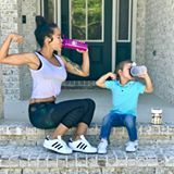 Like mommy, like son. Kids will do everything you do! So make sure you're leading a healthy lifestyle.  Every time I drink my protein shake, my son asks for his own protein shake. When I found @kidzshake, I immediately got excited!! He's been drinking it for a few months now and I've noticed his overall health has been amazing. He is a PICKY EATER and by having a shake per day as a snack, he gets all the nutrients that he needs without me having to worry my little mommy heart. He also sleeps…
