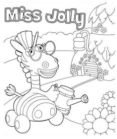 Miss Jolly From Jungle Junction Coloring Page Netart In 2020 Jungle Junction Coloring Pages Jolly