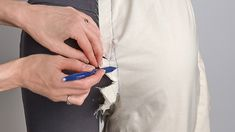 Adjusting Women's Pants With This On-the-Body Fitting Method for the Back-Crotch Seam - Threads