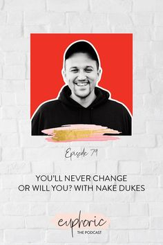 In this episode of Euphoric The Podcast, Karolina sits down with Nate Dukes. Nate is the author of You'll Never Change, and shares his story all around the country. At his lowest, Nate was addicted to drugs, stole a car, and ended up in jail. Today, he shares his inspirational story of overcoming drug and alcohol addiction, reclaiming his life, and how we all have the power to change. Quit Drinking, Love And Forgiveness, Lower Your Cholesterol, Radical Change, Never Change, Proud Of Me, Inspire Others, Health And Wellbeing, Self Development