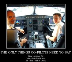 The only things co-pilots need to say…