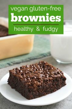 These vegan gluten free brownies are so rich and delicious! You'll never guess that these fudgy eggless brownies are allergy-friendly. They taste just like the real thing! Perfect vegan comfort food. #brownies #glutenfree #vegancomfortfood