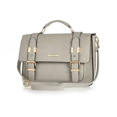 River Island Womens Grey large satchel from River Island Clothing. Shop more products from River Island Clothing on Wanelo. Satchel Backpack, Satchel Handbags, Beautiful Handbags, Beautiful Bags, Grey Purses, Purses And Bags, Long Strap Purse, River Island Womens, Handbag Accessories