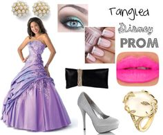 "@Camille Blais Esther  ""Tangled Disney Prom"" by rachelfrog ❤ liked on Polyvore"