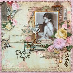 Scrapbook page by Gabrielle Pollacco using BoBunny's Juliet collection