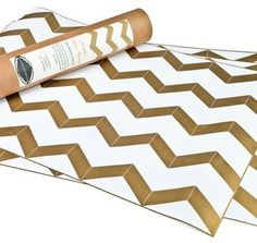 chevron drawer liners via Amelia Presents   http://ameliapresents.com/products/gold-chevron-scented-drawer-liners/