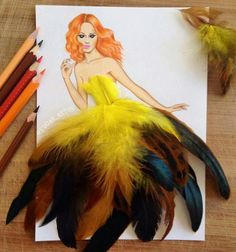 Photography meets art: Fashion designing with feathers