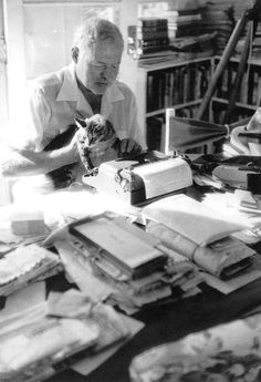 Ernest Hemingway, OPRF class of 1917.  That looks almost as tidy as my desk @ The Library!