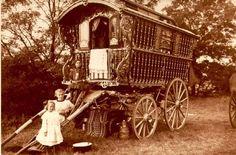 image of a Gypsy wagon.