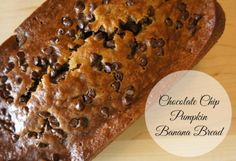 Chocolate Chip Pumpkin Banana Bread #Recipe #PumpkinCan