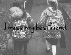 I miss my bestfriend quotes quote friends best friends friend different bffs all of them My Best Friend Quotes, Bff Quotes, Friendship Quotes, Friend Friendship, Bestest Friend, Journey Quotes, Bffs, Bestfriends, I Miss My Bestfriend