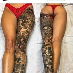 Sexy Tattoos for Girls! The best locations, hottest tattoos, and hottest artists for a tattoo that is going to make you sizzle. Tattoo Girls, Girl Tattoos, Tatoos, Sexy Tattoos, Body Art Tattoos, Tattoos For Women, Thigh Tattoos, Piercings, Piercing Tattoo
