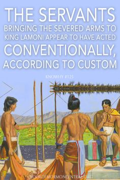 "In light of ancient Near Eastern and Mesoamerican practices, the servants bringing the severed arms that Ammon cut off to King Lamoni as ""a testimony"" of the events they witnessed seems far less fanciful than at first glance. Instead, it would appear that the servants who took the arms were acting conventionally, according to custom. https://knowhy.bookofmormoncentral.org/content/why-did-the-servants-present-lamoni-with-the-arms-of-his-enemies #AncientPractices #BookofMormon #LDS #Mormon…"