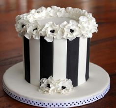Image result for black and white 30th birthday cakes