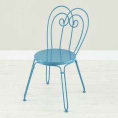Looking Glass Play Chair (Turquoise) Love these colorful chairs for the girls' room!
