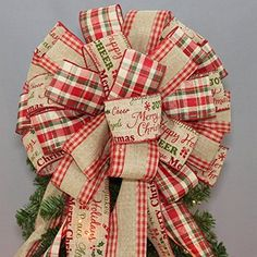 In this video, Julie with Southern Charm Wreaths shows you how to make a Christmas tree topper bow.