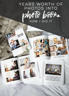 Modern Yearly Photobooks- & organizing years of photos - Lemon Thistle Family Photo Album, Album Photo, Family Photos, Family Posing, Family Portraits, Self Adhesive Photo Albums, Shutterfly Photo Book, Baby Photo Books, Baby Books