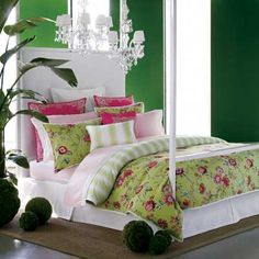 bold and bright bedroom