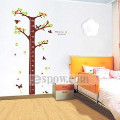 [US$23.99] DIY Adhesive Tree Height Chart Removable Nursery Wall Decal for Kids