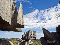 Заповедник Tsingy de Bemaraha кажется усыпанным остроконечными пиками, Мадагаскар / Мадагаскар