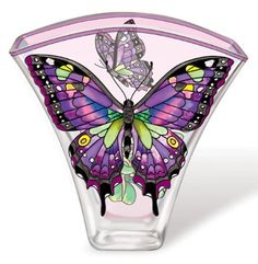 Amia 5619 Whispering Wings Vase, Purple Swallowtail Butterfly Design, 6-Inch W by 2-Inch L by 5-3/4-Inch H by Amia, http://www.amazon.com/dp/B005DYMMC2/ref=cm_sw_r_pi_dp_e5yjqb0EG3W7J