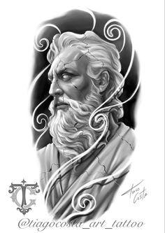 Lion Tattoo Design, Tattoo Design Drawings, Viking Tattoo Design, Viking Tattoos, Tattoo Studio, Zues Tattoo, Hercules Tattoo, Blackwork, Greek Mythology Tattoos