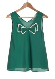 Green tank with bow