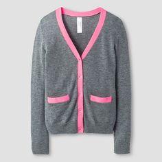 Girls' Boyfriend Cardigan Cat & Jack™ - Grey/Pink : Target