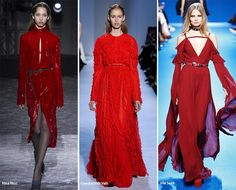 Paris Fashion Week Fall 2016 Fashion Trends: Red #trends #fashiontrends #fashion