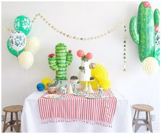 Desert Vibes Party by Wild Child  Cactus, Fiesta, Cinco De Mayo, Naked Cake, co-ed babyshower,
