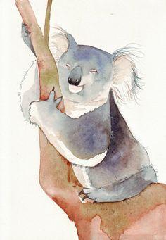kola bear watercolor
