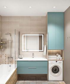 Bathroom Design Luxury, Bathroom Design Small, Bathroom Layout, Small Bathroom Plans, Modern Small Bathrooms, Home Room Design, Interior Design Kitchen, Laundry Bathroom Combo, Casa Petra