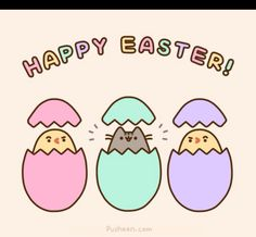 Happy Easter from pusheen