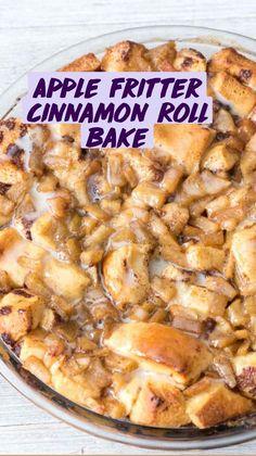 Apple Fritters, Cinnamon Rolls, Fall Food, Apple Recipes, Baking, Cobbler, Buns, Pastries, Yummy Treats