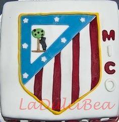 Escudo Atletico de Madrid Tartas de Escudos de Futbol - Repostería Creativa