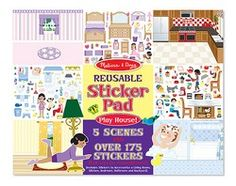 Melissa & Doug Reusable Sticker Pad - Play House (4197)