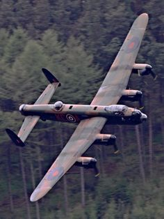 Lancaster on Dambusters Memorial Flight.