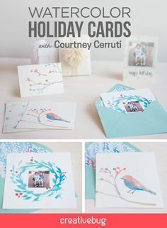 With the Holidays approaching, it is the perfect time to learn how to make simple watercolor holiday cards that you'll enjoy making just as much as your friends and family will enjoy receiving.