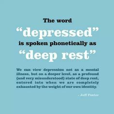 Completely exhausted by the weight of our own identity..  interesting thought...